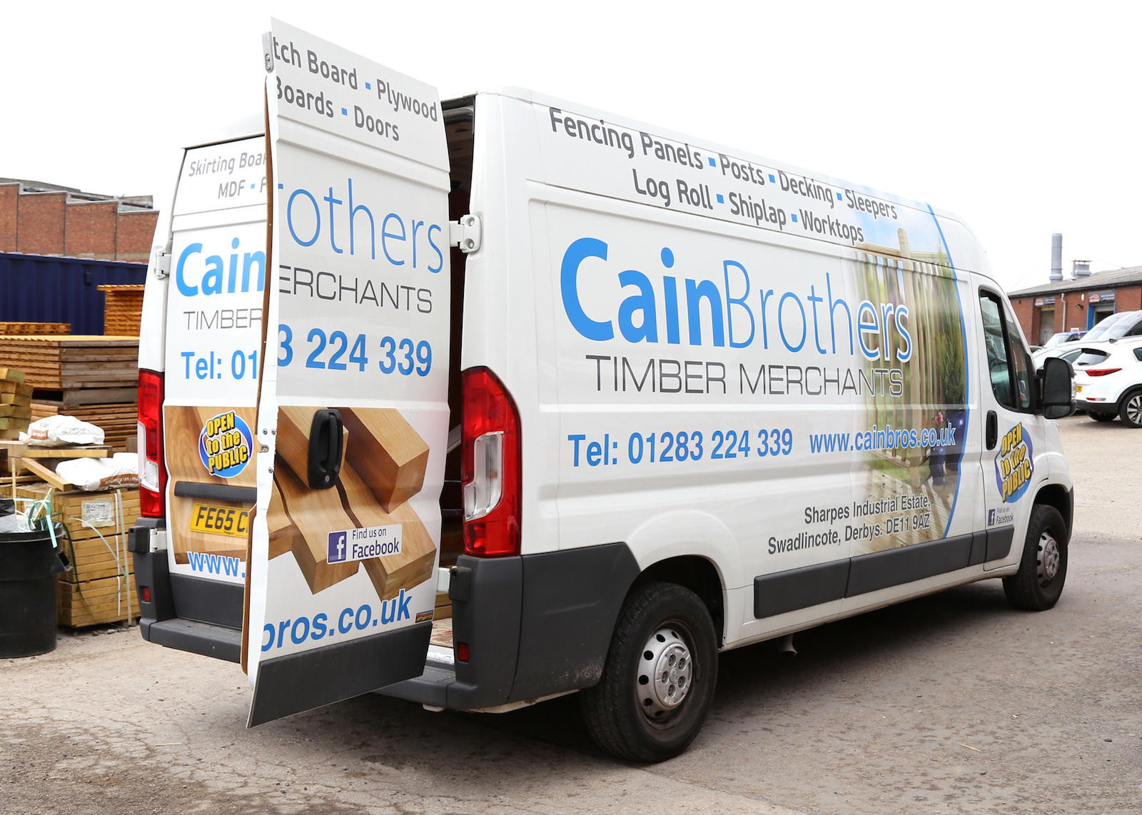 Cain Brothers Timber Merchants Delivery Van