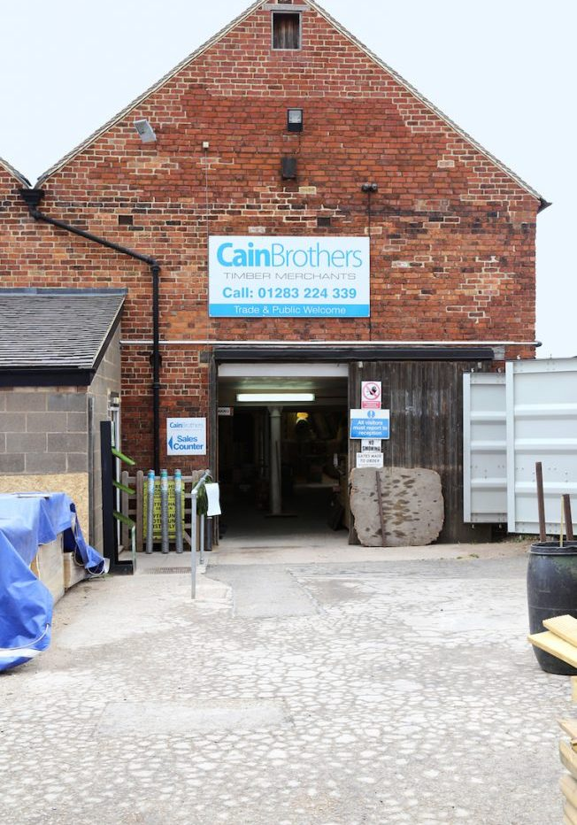Cain Brothers Timber Merchants Shop Entrance Derbyshire East Midlands